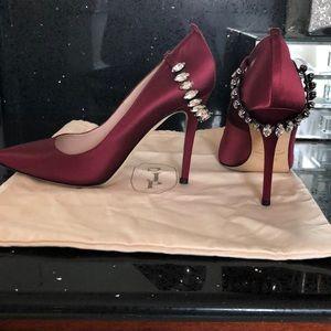 SJP by Sarah Jessica Parker Shoes - SJP by Sarah Jessica Parker Burgundy Satin Pumps